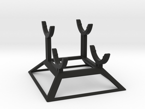 Double Saber Stand in Black Natural Versatile Plastic