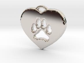 heart paw in Platinum