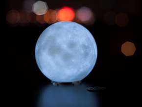 Moon lamp in White Natural Versatile Plastic