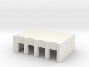 Airport Vehicle Service Building - no doors in White Natural Versatile Plastic