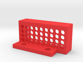 TouchPlateHolder in Red Processed Versatile Plastic