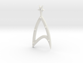 Galaxy Earrings in White Natural Versatile Plastic