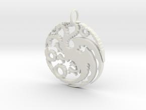 Game Of Thrones Pendant in White Natural Versatile Plastic