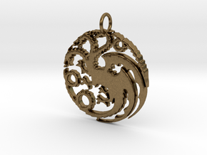 Game Of Thrones Pendant in Natural Bronze