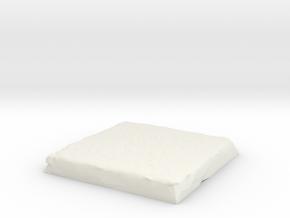 Flat Terrain 2in square in White Natural Versatile Plastic