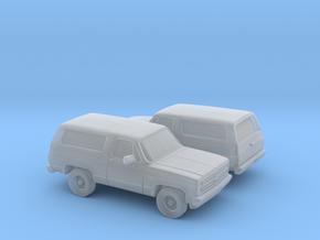 1/160 2X1980-88  Chevrolet Blazer in Smooth Fine Detail Plastic