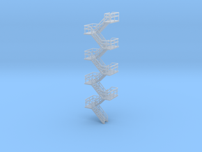 N Scale Staircase H91.2mm in Smooth Fine Detail Plastic