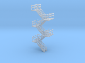 N Scale Staircase H57.6mm in Smooth Fine Detail Plastic