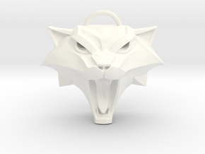 The Witcher: Cat school medallion in White Strong & Flexible Polished
