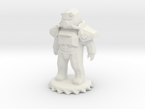 Power Armor Low-Poly in White Natural Versatile Plastic