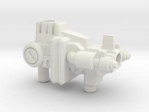 Laser Prime Gun (5mm and 3mm grips) in White Natural Versatile Plastic: Medium