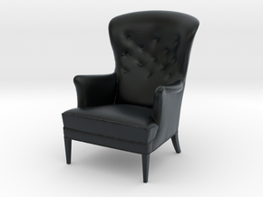 Miniature FH419 Heritage Chair - Frits Henningsen in Black Hi-Def Acrylate: 1:24
