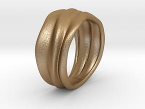 Lunar | Ring in Matte Gold Steel: 7 / 54