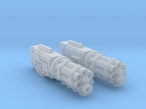 Razorhog Attack Cannons in Smooth Fine Detail Plastic