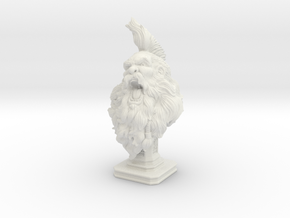 Bearded Man Bust in White Natural Versatile Plastic: Extra Large