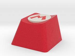 Mario Logo Cherry MX Keycap in Full Color Sandstone