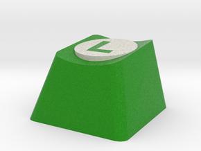 Luigi Logo Cherry MX Keycap in Full Color Sandstone