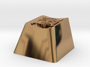One Piece Cherry MX Keycap in Polished Brass