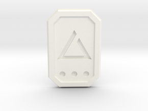 The Witcher: igni glyph in White Processed Versatile Plastic