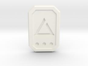 The Witcher: igni glyph in White Processed Versatile Plastic