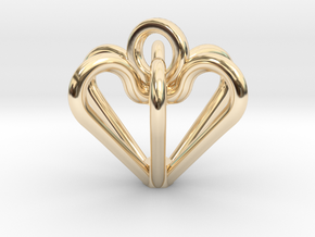 Elegant Heart Pendant  in 14k Gold Plated
