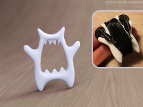 MP3 Cable Winder Guy (Type C) in White Natural Versatile Plastic