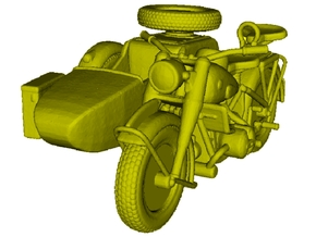 1/120 scale WWII Wehrmacht R75 motorcycle x 1 in Smooth Fine Detail Plastic