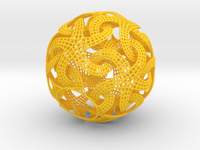 Lampshade_dodecahedron in Yellow Processed Versatile Plastic