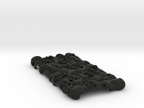 iPhone 7 Plus - Skull Case Full in Black Strong & Flexible