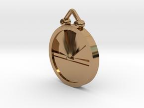 Sunrise Pendant in Polished Brass