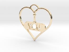 I LOVE YOU  in 14K Yellow Gold
