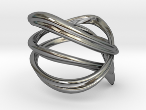 Milkyway Ring size US4.0 in Polished Silver