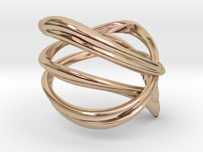 Milkyway Ring size US4.0 in 14k Rose Gold Plated Brass