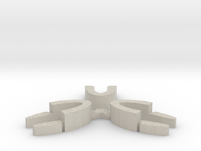 Set of 3 - Globe clamp (Massive armatures) in Natural Sandstone