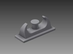 Fairlead with bollards 1/96 in Smooth Fine Detail Plastic
