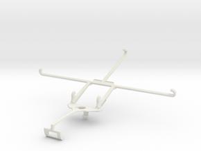 Controller mount for Xbox One S & Dell Venue 8 700 in White Natural Versatile Plastic