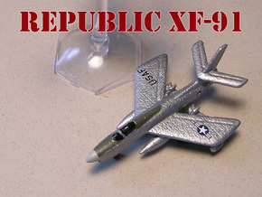 Republic XF-91 Thunderceptor Pair 6mm 1/285 in White Natural Versatile Plastic