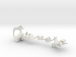 3dWordFlip: Guusje/Puck in White Natural Versatile Plastic
