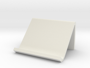 Tablet holder in White Natural Versatile Plastic