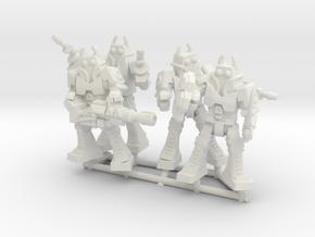 Waruder Battas Squad, set of 4 35mm Minis in White Natural Versatile Plastic