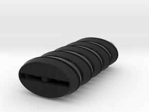 Oval Base Set in Black Natural Versatile Plastic