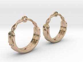 Atlantis Earrings in 14k Rose Gold Plated Brass