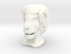 Lion SMALL in White Processed Versatile Plastic