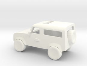 Landrover SMALL in White Processed Versatile Plastic