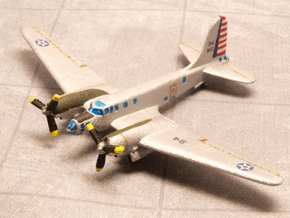 Douglas B-23 Dragon (Pair) 1/285 6mm in White Natural Versatile Plastic