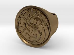 Ring of house targaryen - game of thrones in Natural Bronze