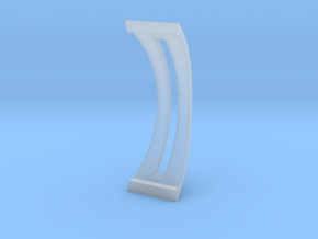 Laptop Stand for Macbook PRO in Smooth Fine Detail Plastic: d4