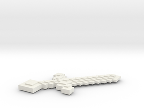 Minecraft Sword in White Natural Versatile Plastic: Small