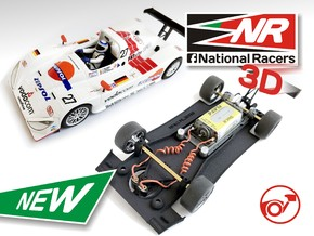 3D Chassis - Fly Lola B98/10 - WING - Inline in Black Strong & Flexible