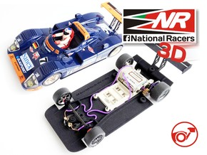 3D chassis - Fly Joest TWR Porsche WSC 95 (SW/In) in Black Strong & Flexible